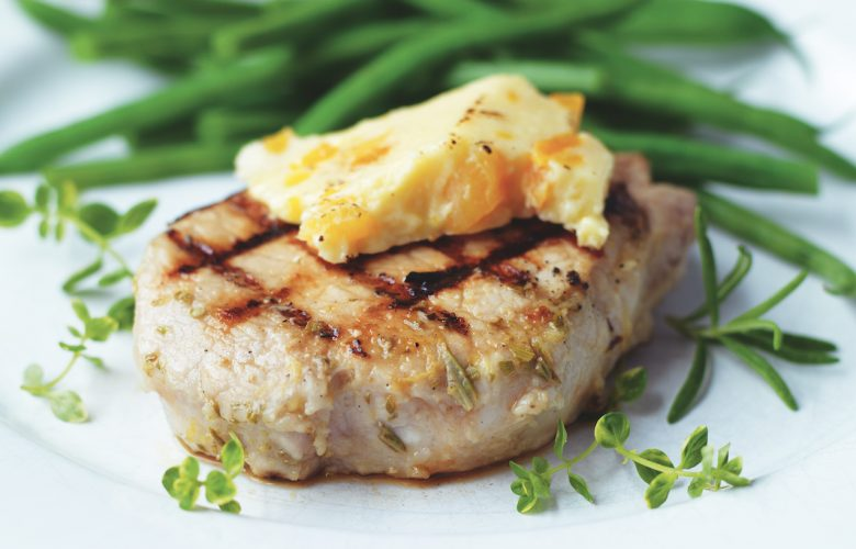 Chargrilled-Marinated-Pork-with-Wensleydale-and-Apricots